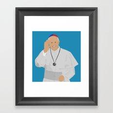 Pope Francis - San Lorenzo version Framed Art Print