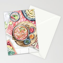 Indian Meal Stationery Cards