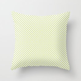 Daiquiri Green Polka Dots Throw Pillow