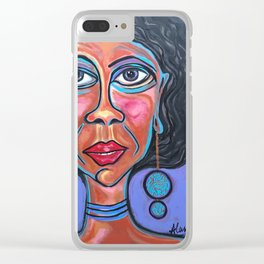 Unbalanced Ursula Clear iPhone Case