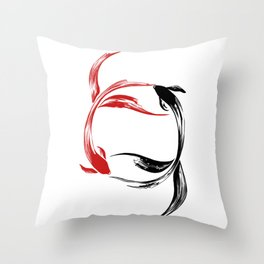 Koi Yin & Yang Throw Pillow