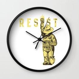 resist the bears Wall Clock