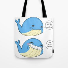 Whale you be my valentines? Tote Bag