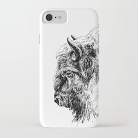 buffalo iPhone & iPod Cases featuring Buffalo by Ingrid Restemayer