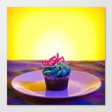 Happy Birthday Cupcake Canvas Print