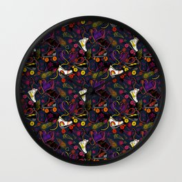 Meet Me At the Roller Rink Wall Clock