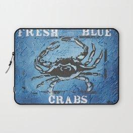 Fresh Blue Crabs Laptop Sleeve