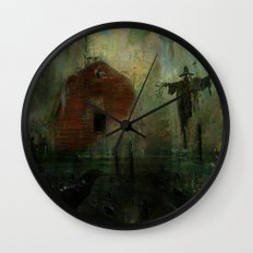 The crow and the Scarecrow Wall Clock