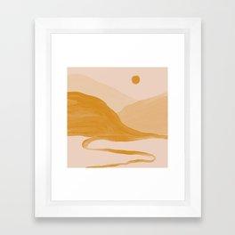 Morning Mountain Bliss Framed Art Print