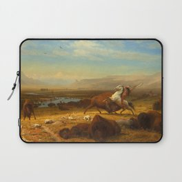 The Last of the Buffalo, by Albert Bierstadt, 1888, American painting Laptop Sleeve