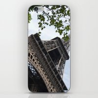eiffel tower iPhone & iPod Skins featuring Eiffel Tower  by Françoise Reina