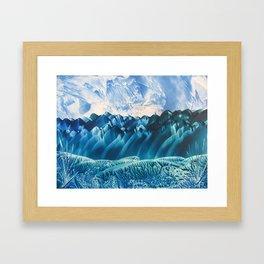 Fantasy Turquoise and Teal Landscape Framed Art Print