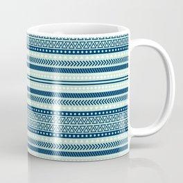 Mint and Navi Tribal Pattern Coffee Mug
