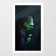 Frankenstein Remembers Art Print