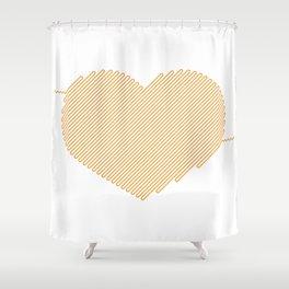 Heart Circuit Shower Curtain