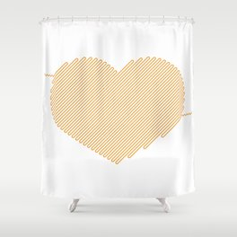 Heart Circuit Shower Curtain