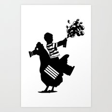 Riding Rooster  Art Print