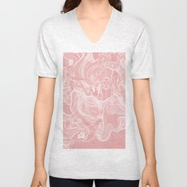 For Funsies in pink Unisex V-Neck