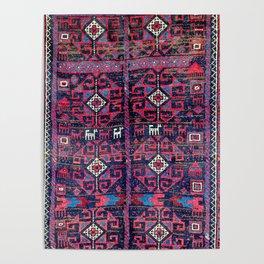 Baluch Khorasan Northeast Persian Rug Print Poster