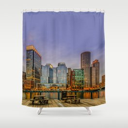Boston Financial District Shower Curtain