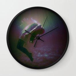 Drowning Glitch Wall Clock