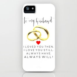 husband gift,husband and wife,love art,couples gift,wedding,anniversary,rings for men,romantic art iPhone Case