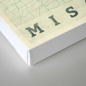 Missouri State Map Blue Vintage Canvas Print