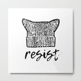 Pussyhat Power Metal Print