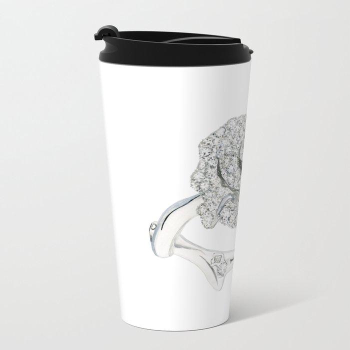 Silver Rose Ring Travel Mug