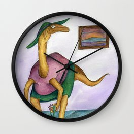 Dressy Dinosaur - Shirley Wall Clock