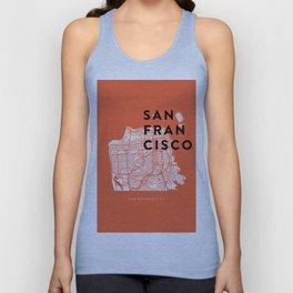 San Francisco Map 04 Unisex Tank Top