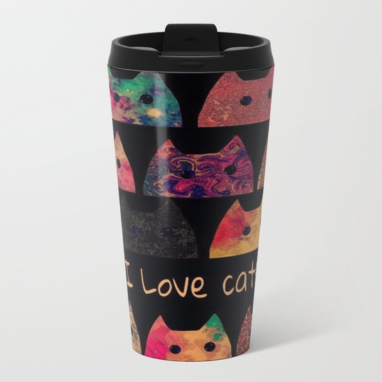 cat-13 Metal Travel Mug