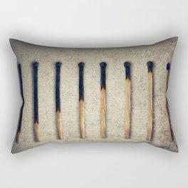 burnt matches stairsteps Rectangular Pillow