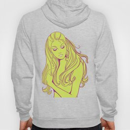 Psychedelic Lady Dream In Green Hoody