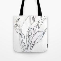 Calla Lily Point Tote Bag