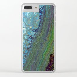 Age And Beauty - Original, abstract, fluid, marbled painting Clear iPhone Case