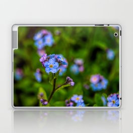 Forget-me-nots In The Rain Laptop & iPad Skin