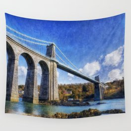 Menai Susupension Bridge Wall Tapestry