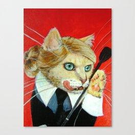 Dita, A Highly Professional (Dominatrix) Business Cat Canvas Print