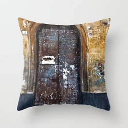 Old Sicilian door of Catania Throw Pillow