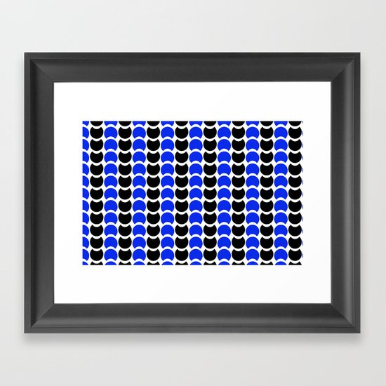 HobNob BlueBlack Print, Canvas and Laptop/iPad Skin Framed Art Print