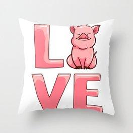 Love Pig Throw Pillow