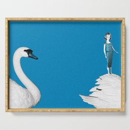 A Doll & Her Swan Serving Tray