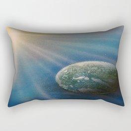 Sun Cross Earth Space Spray Paint Rectangular Pillow
