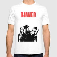 Django Unchained illustration White Mens Fitted Tee SMALL