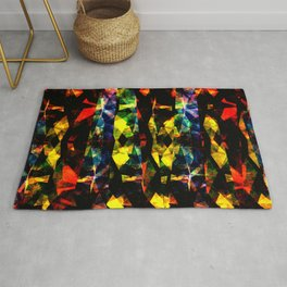 Colorful Abstract Collage Rug