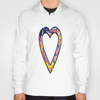 grafitti Hoodies featuring Heart in bright sunny colours by NatalieCatLee
