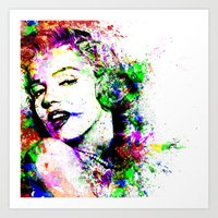 marylin monroe Art Prints featuring Monroe. by David