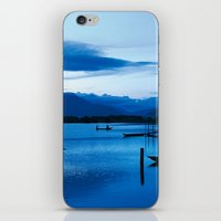 buddhism iPhone & iPod Skins featuring BLUE VIETNAMESE MEDITATION  by CAPTAINSILVA