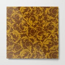 Vintage Swirls Mango Cinnamon Metal Print